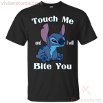 Funny Stitch Touch Me And I Will Bite You T-Shirt