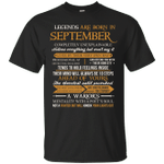 Legends Are Born In September Vintage Perfectly T-Shirt