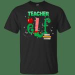 Elf Teacher Costume Funny Christmas T-Shirt-Vivianstores