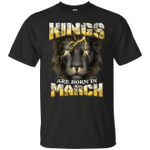 Devil Lion Kings Are Born In March Birthday T-Shirt For Men