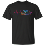 January 1985 34rd Birthday Colorful Graphic T-Shirt