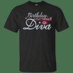 Diva Birthday October Diamond Pink T-Shirt