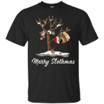 Merry Sloth Christmas Pajama Sloth Lover T-Shirt