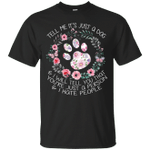 I Love Dog And I Hate People Funny Floral T-Shirt
