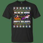 Ho Ho Ho Homo Happy Holigays Funny Santa Unicorn LGBT Gift T-Shirt