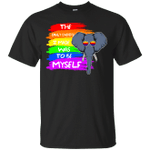 Funny Elephant The Only Choice I Made Was To Be Myself LGBT T-Shirt-Vivianstores
