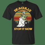 Star Wars Yoda Seagulls Stop It Now Vintage T-Shirt