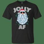 Jolly Santa AF Funny Xmas Santa Sunglasses T-Shirt