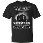 Never Underestimate A December Woman Who Watches To Supernatural T-Shirt