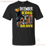 December Black Panther King Over 50th Birthday T-Shirt