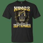 Devil Lion Kings Are Born In September T-Shirt