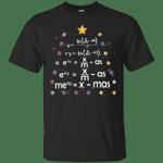 Math Teacher Merry Christmas Xmas Tree T-Shirt