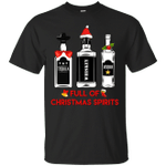 Tequila Whiskey Vodka Full Of Christmas Spirits Xmas Gift T-Shirt
