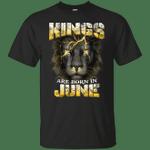 Devil Lion Kings Are Born In June T-Shirt