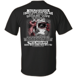 Don't Touch My Spoiled Wife Born In June Print On Back T-Shirt