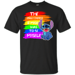 Stitch The Only Choice I Made Was To Be Myself LGBT T-Shirt