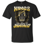 Devil Lion Kings Are Born In January T-Shirt