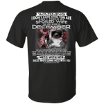 Don't Touch My Spoiled Wife Born In December Print On Back T-Shirt