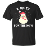 I Do It For The Ho's Funny Hipster Sunglasses Santa Claus T-Shirt-Vivianstores