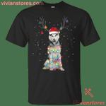 Husky Santa Lights Christmas Dog Xmas T-Shirt