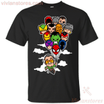 Stan Lee And Cute Balloons Superheroes T-Shirt