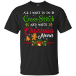Funny Christmas Movie for Cross Stitch Lovers T-Shirt-Vivianstores