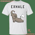 Exhale Funny Elephant T-Shirt