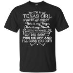 I'm A Texas Girl Short And Stout T-Shirt