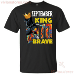 September Black Panther King Over 70th Birthday T-Shirt
