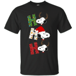 Funny Snoopy HO HO HO Merry Christmas T-Shirt-Vivianstores