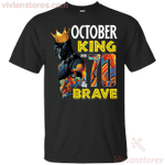 October Black Panther King Over 70th Birthday T-Shirt