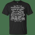 I'm A Montana Girl Short And Stout T-Shirt