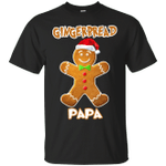 Gingerbread Papa Matching Family Funny Christmas T-Shirt-Vivianstores