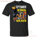 September Black Panther King Over 60th Birthday T-Shirt