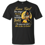 June Girl She Slays She Prays She's Beautiful T-Shirt