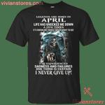 Legends Devil Are Born In April T-Shirt