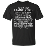 I'm A Maine Girl Short And Stout T-Shirt