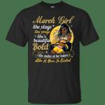March Girl She Slays She Prays She's Beautiful T-Shirt-Vivianstores