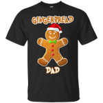 Gingerbread Dad Matching Family Funny Christmas T-Shirt-Vivianstores
