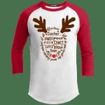 Santa Claus's Reindeer Name Raglan Sleeve Shirt Funny Xmas Gift-Vivianstores