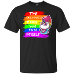 Colorful Unicorn The Only Choice I Made Was To Be Myself LGBT T-Shirt-Vivianstores