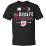 Ohio Marked Safe From Michigan's Revenge Tour 2018 T-Shirt