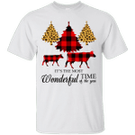 Red Buffalo Plaid It's The Most Wonderful Time Of The Year Christmas T-Shirt-Vivianstores