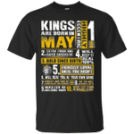 Kings Are Born In May Birthday Gift T-Shirt