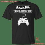 Level 4 Unlocked 4th Birthday Video Gamer Gaming Birthday Kid T-Shirt