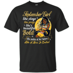 September Girl She Slays She Prays She's Beautiful T-Shirt-Vivianstores