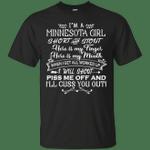 I'm A Minnesota Girl Short And Stout T-Shirt-Vivianstores