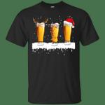 Reindeer Santa Lights Beer Lover - Merry Xmas T-Shirt-Vivianstores