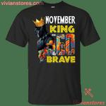November Black Panther King Over 60th Birthday T-Shirt-Vivianstores