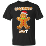 Gingerbread Aunt Matching Family Funny Christmas T-Shirt-Vivianstores